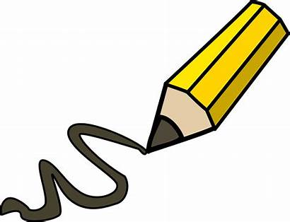 Pencil Clipart Clip Doodling Drawing Writing Doodle