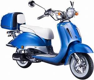 Motorroller 50 Ccm : gt union motorroller strada 50 ccm blau wei otto ~ Kayakingforconservation.com Haus und Dekorationen