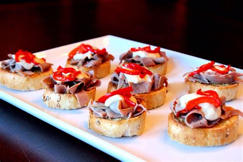 dessert canapes roast beef canapés easy peasy eats