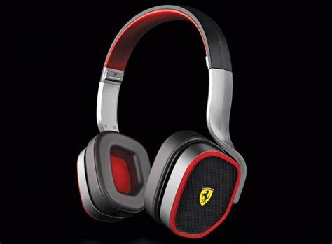casque audio design ferrari noir  rouge arkko
