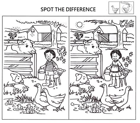 spot the difference worksheets for activity shelter