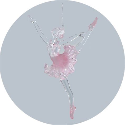 acrylic pink ballerina ornament christmas and city