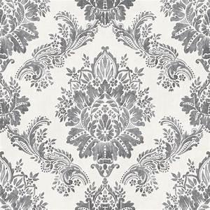 Rasch Bloomsbury Damask Pattern Floral Motif Metallic ...
