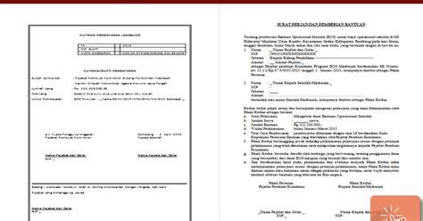 Contoh No Kwitansi by Contoh Surat Perjanjian Dan Kwitansi Bantuan Bos Format