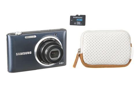appareil photo compact samsung st73 bleu noir housse 4go 3754472 darty