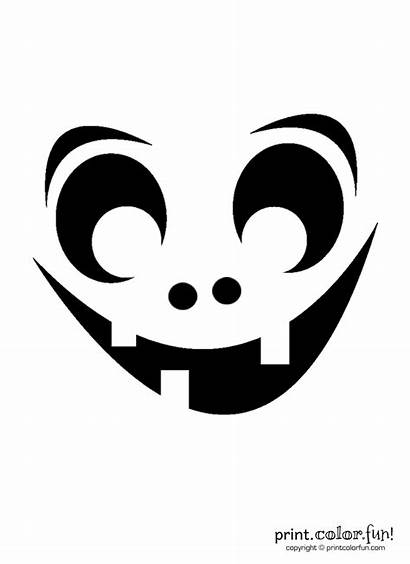 Pumpkin Carving Goofy Stencil Ghoul Fun Coloring