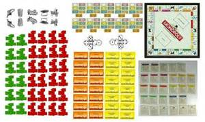 Miniature Monopoly Game Board Printable