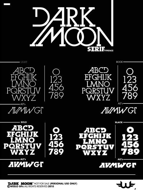 dark moon serif typeface fonts creative market