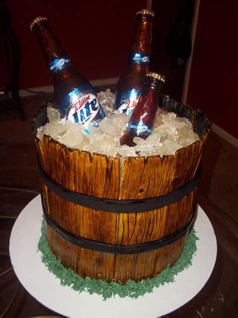 miller lite beer bucket cakecentralcom