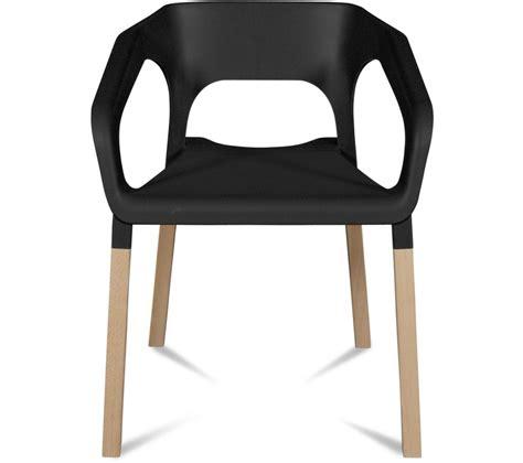 chaises carrefour lot de 2 chaises kraft hêtre massif noir prix promo