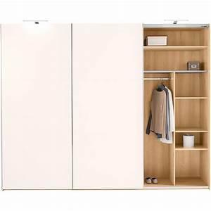 Armoire 3 Suisses : armoire penderie 3 portes coulissantes 3 tiroirs ch ne blanc armoire 3 suisses ~ Teatrodelosmanantiales.com Idées de Décoration