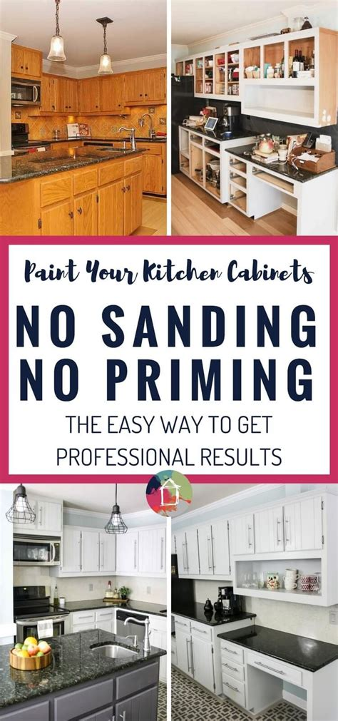 can you paint kitchen cabinets without sanding them how to paint kitchen cabinets no painting sanding 9932