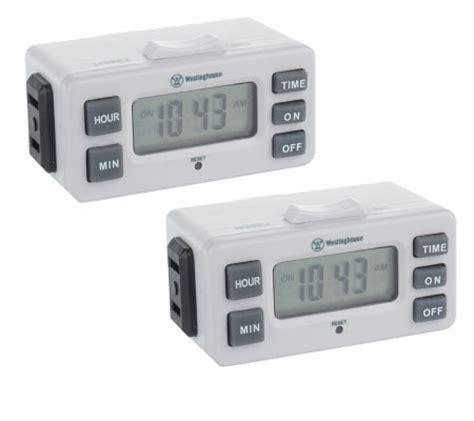 Westinghouse TimerMax Set of 2 Digislim Indoor Digital