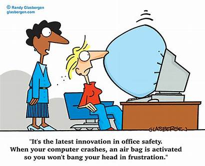 Safety Workplace Cartoons Cartoon Office Computer Clip