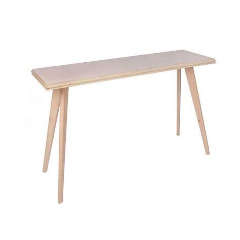 console bureau console ou bureau en bois clair moderne et design flower