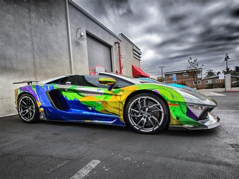 Lamborghini Aventador Supercar Colorful Paint Wallpaper