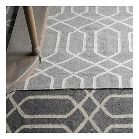 tapis kilim fait tarim gris the rug republic 160x230