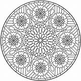 Coloring Therapy Pages Mandala Mandalas Grown Ups Books Adult Geometric Sheets Deco Colors sketch template