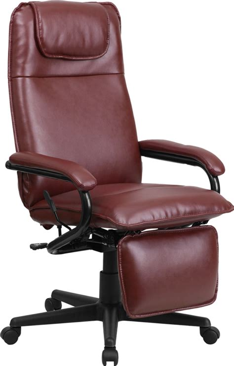 office chairs reclining office chairs with footrest