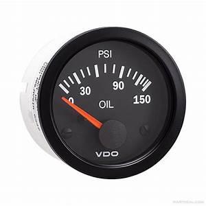 Vdo Engine Oil Pressure Gauge 0-150 Psi