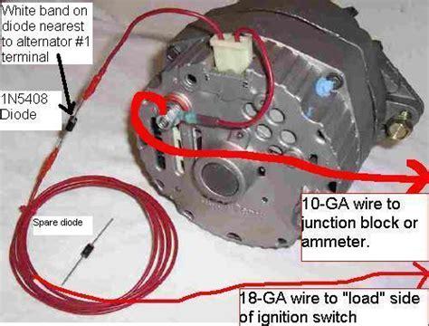 gm single wire alternator wiring mg engine swaps forum