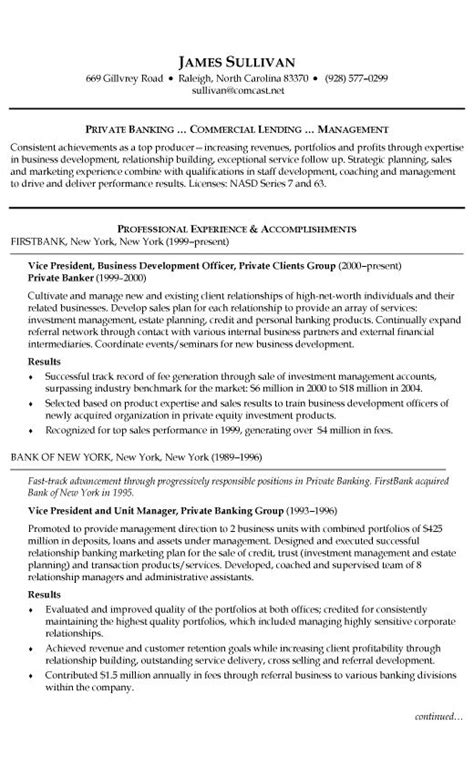 Banking Customer Service Resume by Banking Resume Exle Customer Service Resume Resume