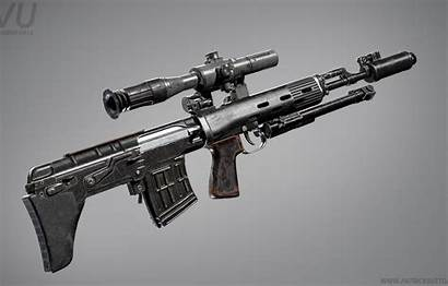 Rifle Sniper Svu Render Weapon Gun Rendering