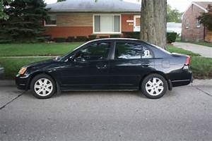 2003 Honda Civic Ex Sedan 5 Speed Manual Black 4 Door