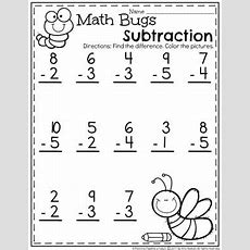 Subtraction Worksheets  Planning Playtime