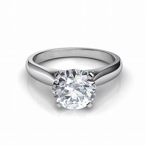 tapered cathedral engagement ring With tapered wedding ring