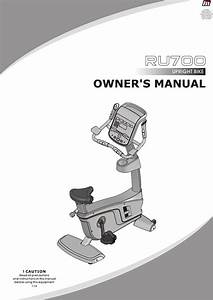 Ru700 Upright Bike Owner U0026 39 S Manual