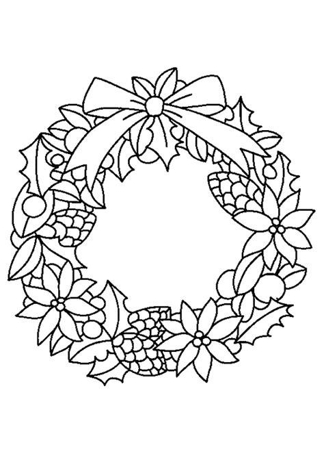 Krans Kleurplaat by Kleurplaat Kerstkrans 6317 Kleurplaten