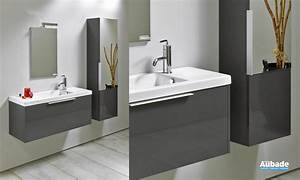 petit meuble salle de bains sanijura xs espace aubade With meuble salle de bain gris anthracite
