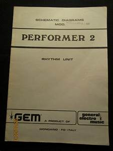 Gem Electric Organ Performer 2 Rhythm Unit Schematic