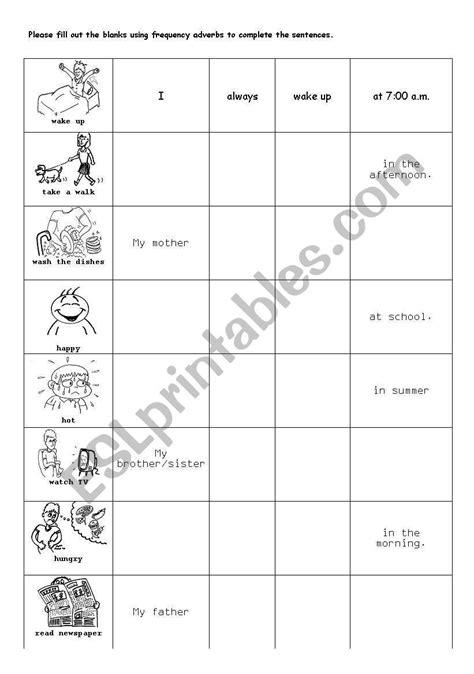 daily routine worksheet esl worksheet  josungim