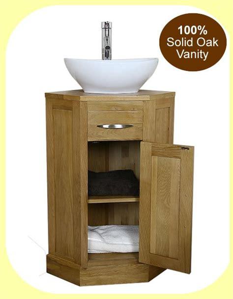 corner vanity details about oak corner bathroom vanity