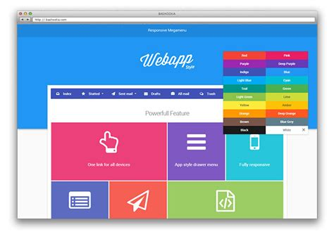 jquery material design plugins web graphic design bashooka
