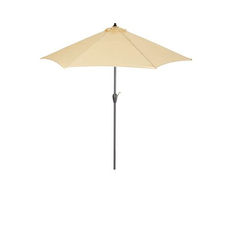 hton bay 9 ft aluminum patio umbrella in roux solid