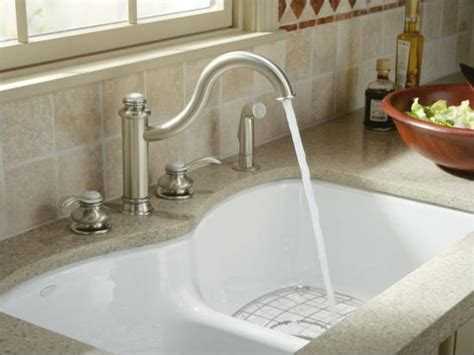 "Kohler k 6626 6U 47 Almond Langlade 33"" Double Basin Under"