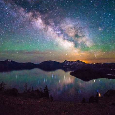 America Great Outdoors The Milky Way Over Crater Lake