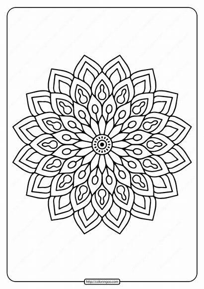 Coloring Mandala Printable Flower Pdf Email