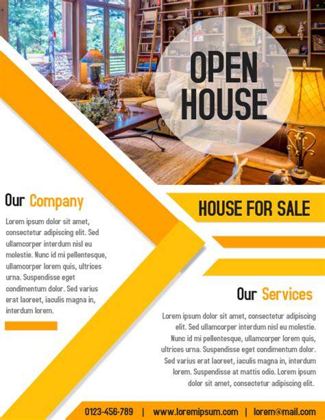 open house property business real estate flyer  poster