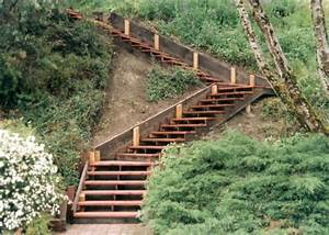amenager un escalier de jardin idees et astuces With construire un escalier de jardin en bois