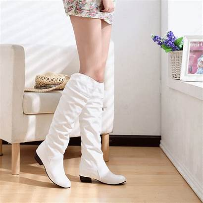 Boots Leather Woman Shoes Pu Stretch Spring