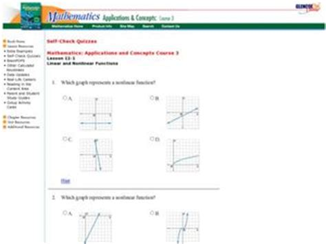 linear or nonlinear functions 9th grade worksheet lesson