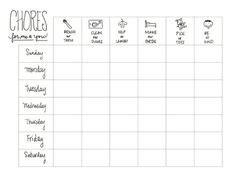 Printable Reward Charts For Kids And Positive Behavior