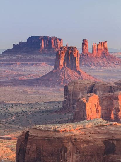 'USA, Arizona, View Over Monument Valley from the Top of ...