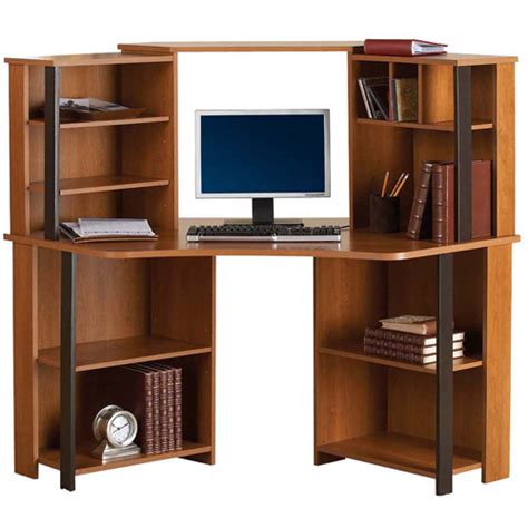 Mainstays Computer Desk Cinnamon Cherry by Get The Mainstays Corner Workstation At An Always Low