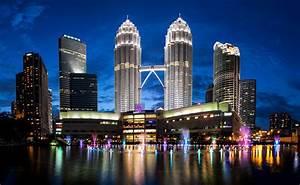 Wallpaper Petronas Towers, Malaysia, Kuala Lumpur, Skyline ...