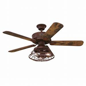 Ceiling Fan Barnett Barnwood 122cm    48 U0026quot  With Led Ceiling